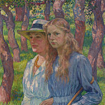 Sotheby's - Theo van Rysselberghe - Portrait of Madame Schlumberger and Her Daughter, 1918