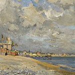 Sotheby's - Paul Manthieu - The Beach at Saint-Adresse, 1915