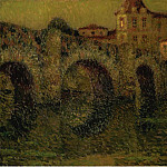 Sotheby's - Henri Le Sidaner - The Bridge at Twilight, Dinan, 1911