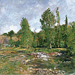 Картины с аукционов Sotheby's - Eugene Boudin - The Pool, Saint-Cenery, 1890-92