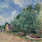 Картины с аукционов Sotheby's - Alfred Sisley - The Loing Channel, Tow-Path, 1882