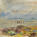 Sotheby's - Pierre Auguste Renoir - Catchers of Shrimps near Rocks, 1892
