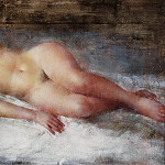 Картины с аукционов Sotheby's - Grigory Gluckmann - Model with Flaxen Hair