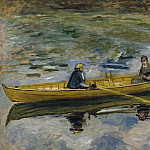 Claude Monet with Mme Henriot, 1880, Клод Оскар Моне