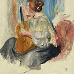 Sotheby's - Pierre Auguste Renoir - Woman with Guitar, 1895-97