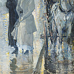 Sotheby's - Frederick Childe Hassam - Rainy Day, New York, 1892
