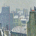 Картины с аукционов Sotheby's - Auguste Herbin - The Roofs of paris under the Snow, 1902