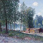Sotheby's - Alfred Sisley - Cabins at the Bank of Loing, Morning Effect, 1896