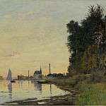 Картины с аукционов Sotheby's - Claude Monet - Argenteuil, Late Afternoon, 1872