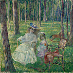 Sotheby's - Henri Lebasque - Mother and Daughter in the Park, 1905