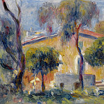 Sotheby's - Pierre Auguste Renoir - Houses at Cagnes, 1908