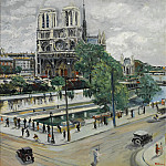 Картины с аукционов Sotheby's - Lucien Adrion - Paris, Notre Dame, the Seine and the Quay