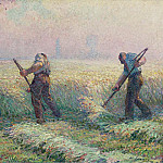 The Mowers in the Outskirts of Lagny, 1899-1900, Анри Лебаск