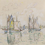 Картины с аукционов Sotheby's - Paul Signac - The Port of Concarneau, 1929