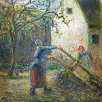 Woman Empting the Hand-Cart, 1880, Camille Pissarro