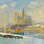 Картины с аукционов Sotheby's - Albert Lebourg - Notre Dame de Paris and the Quay of Tournelle