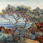 Картины с аукционов Sotheby's - Armand Guillaumin - The Red Rocks at Agay, 1898