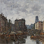 Sotheby's - Eugene Boudin - Rotterdam, the Bridge of Bourse, 1873
