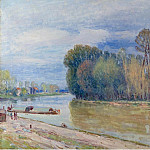 Sotheby's - Alfred Sisley - The Channel of Loing in Spring - Morning, 1897