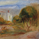 Sotheby's - Pierre Auguste Renoir - Landscape with a House, 1910-14