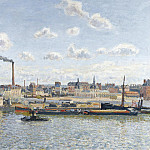 Sotheby's - Camille Pissarro - The Bridge of Boieldieu and the Orleans Station, Rouen, Sunny Day, 1898