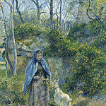 Sotheby's - Camille Pissarro - The Shepherdess and the Goat, 1881