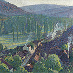 Картины с аукционов Sotheby's - Henri Martin - Labastide-du-Vert, Valley of Lot, 1905
