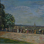 Картины с аукционов Sotheby's - Constantin Terechkovitch - View of the Park of Saint-Cloud