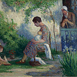 Sotheby's - Maximilien Luce - Rolleboise - Madame, Jean and Madeleine, 1927