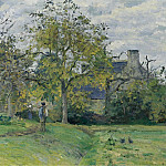 The House of Piette at Montfoucault, 1874, Camille Pissarro