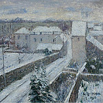Sotheby's - Gustave Loiseau - View of Triel under the Snow, 1916