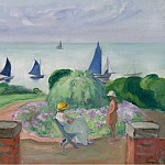 At the Terrace at Prefailles, 1922, Henri Lebasque