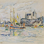 Sotheby's - Paul Signac - View of the Port of Sables dOlonne, 1913