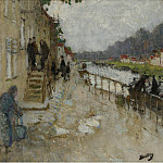 Sotheby's - Pierre-Eugene Montezin - Bank of the Channel at Saint-Mammes