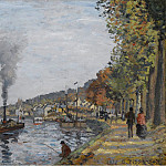 The Siene at Bougival, 1871, Camille Pissarro