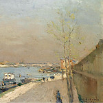 Sotheby's - Albert Lebourg - Quay of the Seine, Spring Morning
