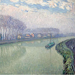 The Marne at Pomponne, 1905, Анри Лебаск