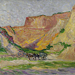 Картины с аукционов Sotheby's - Люс, Максимильен - The Outskirts of Rollebois, Harness at the Sand-Pit