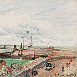 The Pier and the Semaphore of Havre, 1903, Camille Pissarro