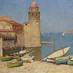Картины с аукционов Sotheby's - Henri Martin - The Port of Collioure, 1920