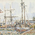 Sotheby's - Paul Signac - The Port of Saint-Servan, 1929
