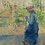 Peasant Woman Digging, 1882, Камиль Писсарро