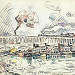 Sotheby's - Paul Signac - The Viaduct and Mouche Bridge at Auteuil, 1927