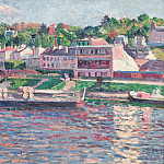 Sotheby's - Maximilien Luce - Bas-Meudon, the Barge on the River, 1897