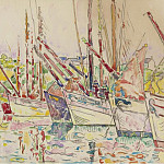 Картины с аукционов Sotheby's - Paul Signac - The Boats, Groix, 1923