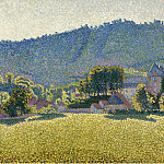 Картины с аукционов Sotheby's - Paul Signac - Comblat-le-Chateau. The Valley, 1887