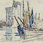 Картины с аукционов Sotheby's - Paul Signac - The Port of La Roshelle
