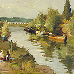 Картины с аукционов Sotheby's - Marcel Dyf - River at Amoureux, 1955