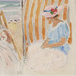 Two Young Women on the Beach of Saint-Jean-de-Monts, Анри Лебаск
