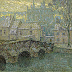Sotheby's - Henri Le Sidaner - Chartres in Snow, 1918